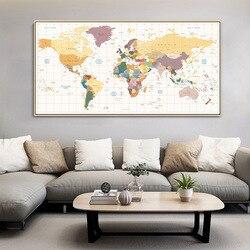 Nordique décoratif peinture anglais bureau canapé fond mur fond affiche murale carte créative à grande échelle suspendus peinture