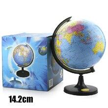 14,2 см мировая Земля Карта земного шара настольная китайская и английская география образовательная подставка для Дома Офиса Глобус HD обучающая версия подарок