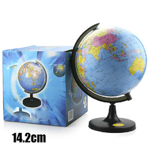 Buy 14.2cm World Earth Globe Map Desktop Chinese and English Geography Educational Stand Home Office globe HD Teaching Version Gift directly from merchant!