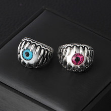 Venda quente anéis criativos retro halloween evil eyes declaration anéis para jóias masculinas na moda 2020