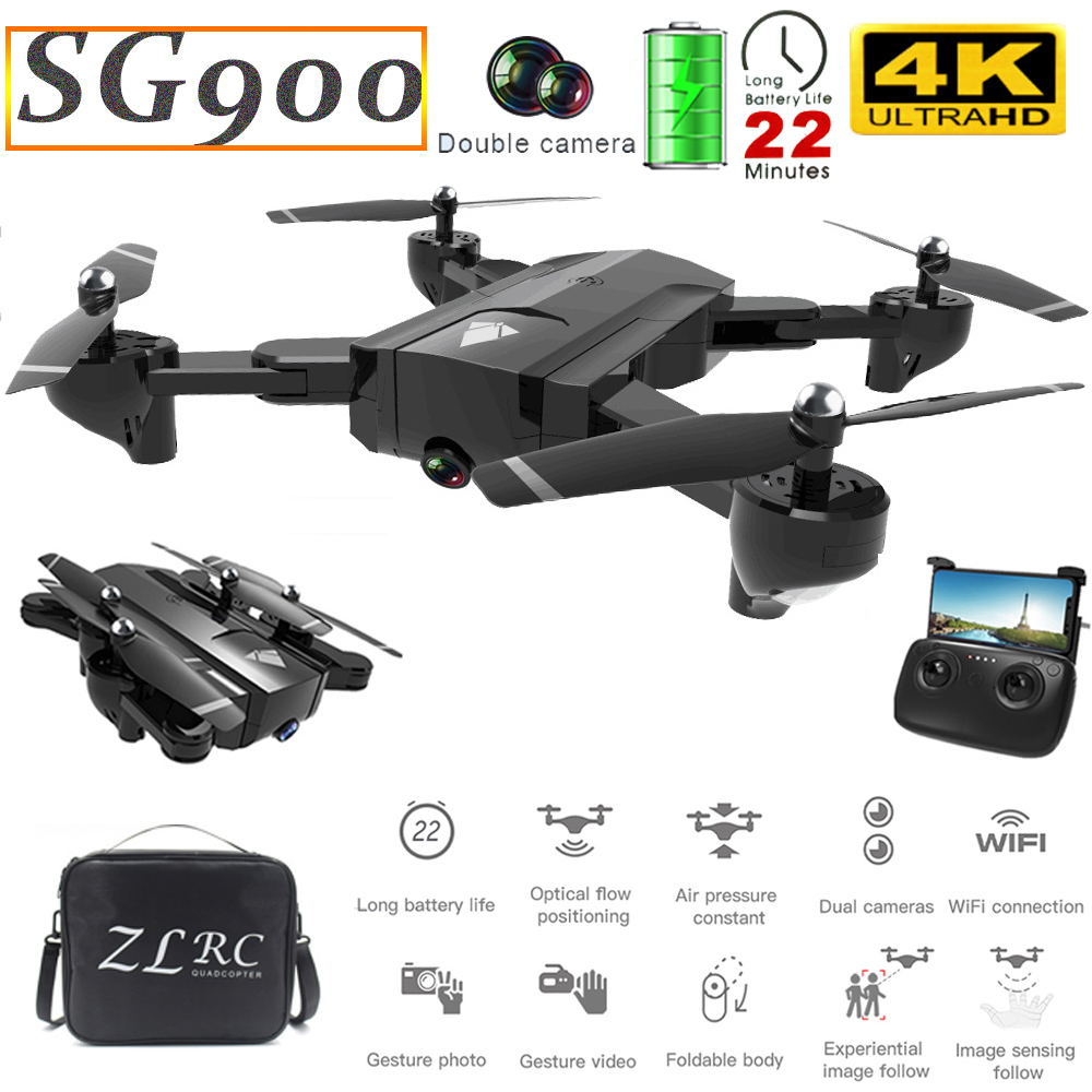 SG900 Mini <font><b>Drone</b></font> with Camera 4K 22mins Flight Time Optical Flow Positioning Gesture Photo Video Image Follow RC Quadcopter <font><b>Drone</b></font> image