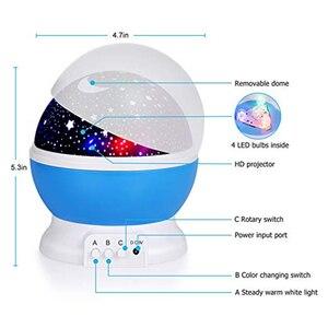 Image 2 - 3D Star Night Light Projector Lamp Letras Led Kids Starry Night Baby Lamps For Children lamparas moon light nightlight infantil
