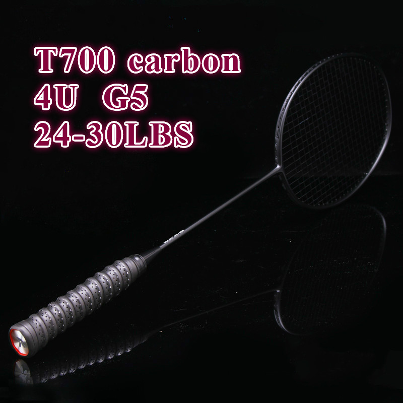 KAILITE Carbon Badminton Racket With String And Overgrip 4U G5 Badminton Racket 24-30LBS