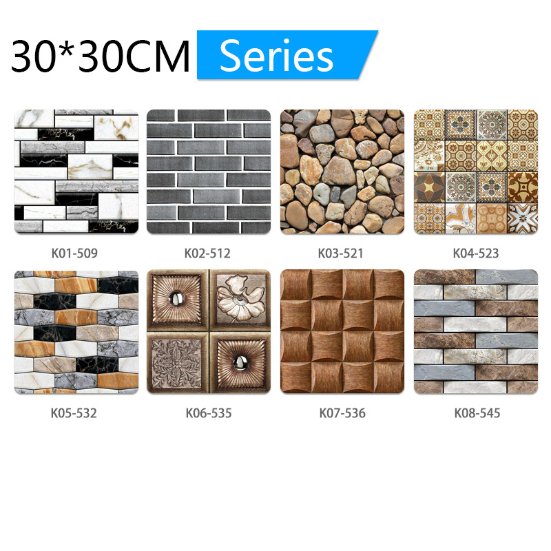 3D Wallpaper DIY Brick stone pattern Self-Adhesive Waterproof Wall Stickers 70cm*77cm floral prints 3D Wall Sticker for home 5