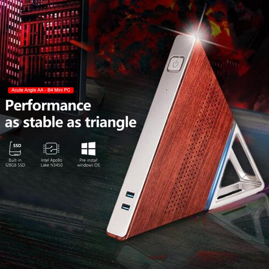 Image 2 - Acute Angle AA B4 Mini Computer Host DDR3 8GB RAM 1600MHZ 64GB EMMC+128GB SSD Portable PC Support 2.4G&5G WiFi 1000M RJ45 PortMini PC   -