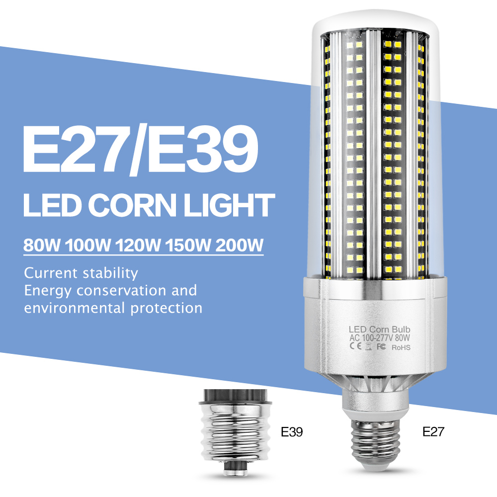 Led Lamp Corn Light E27 Led Bulb 220V Chandelier Super Bright Warehouse Lighting Led E39 E40 150W 200W Basement Factory Lights|LED Bulbs & Tubes| |  - title=