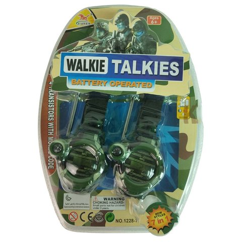 2pcs Walkie Talkies Watches Toys for Kids 7 in 1 Camouflage 2 Way Radios Mini Walky Talky Interphone Clock Children Toy Karachi