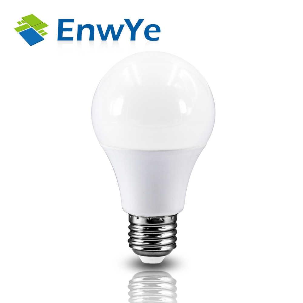 Enwye Lampu LED E27 E14 LED Bulb AC 220V 240V 20W 24W 18W 15W 12W 9W 6W 3W Lampada LED Lampu Meja
