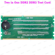 Two in One Desktop PC Motherboard Test Card DDR2 DDR3 / DDR4 RAM Memory Slot /LED Diagnostic Analyzer Tester Desktop Board(China)