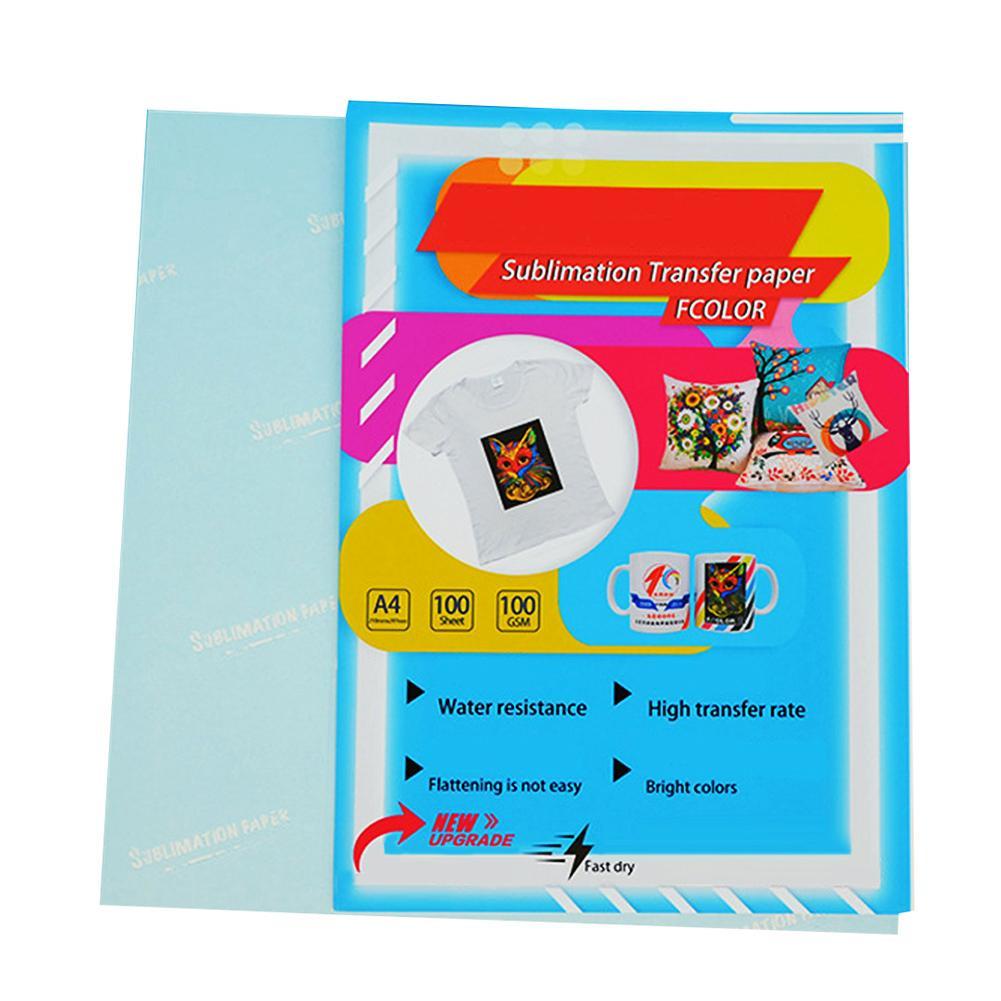 100Pcs Transfer Paper On Heat Press Light Fabrics Printing Paper For T Shirts Clothes Modal