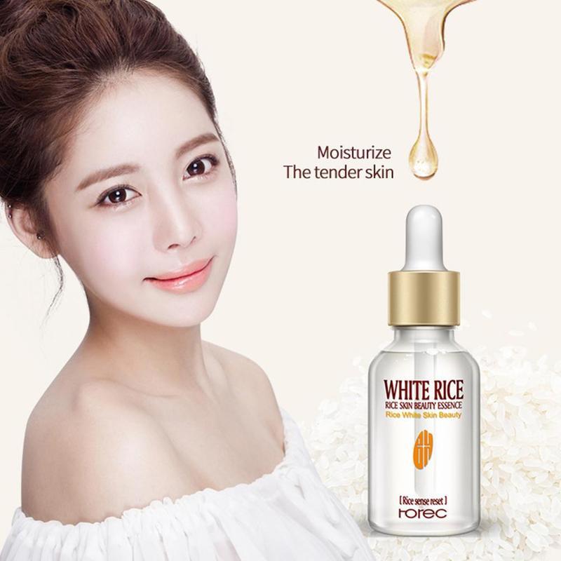 15ml  White Rice Face Serum Skin Beauty Serum Skin Care Moisturizing Whitening Advanced Facial