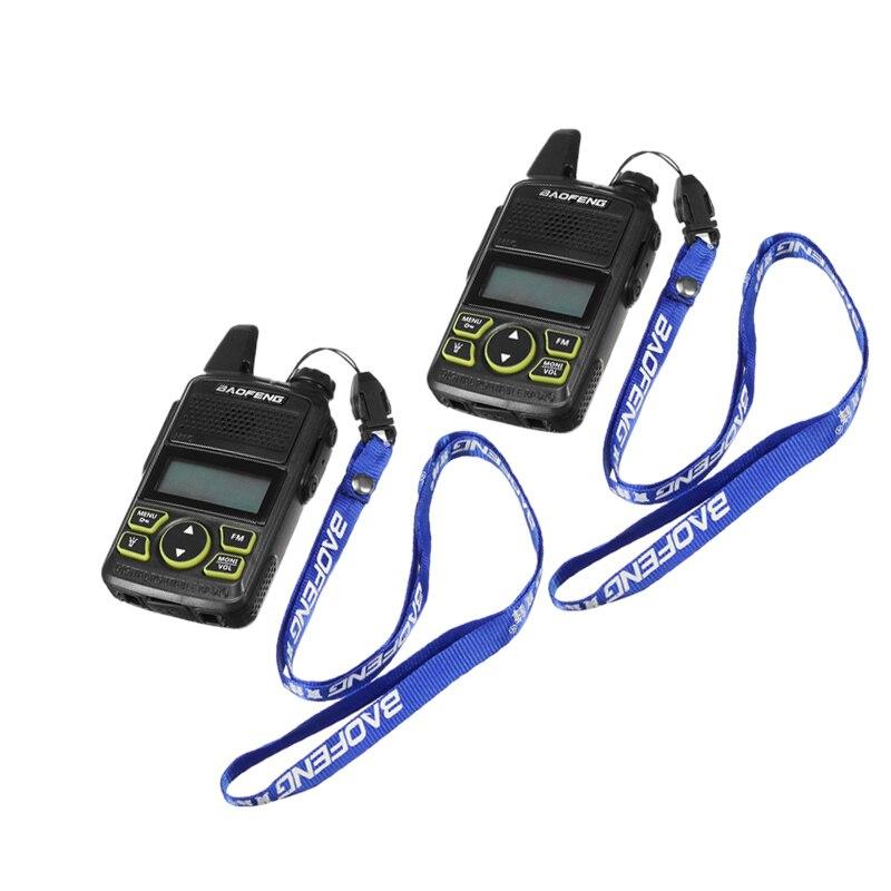 2pcs Baofeng Original BF-T1 Mini Walkie Talkie UHF 400-470MHz FM Transceiver With PTT Earpiece Hotel Civilian Radio Comunicacion