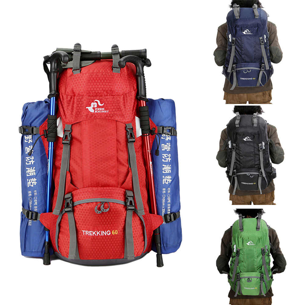 60L imperméable à l'eau Polyester extérieur voyage sac à dos sac à dos sac de Sport avec couverture de pluie Camping randonnée Trekking sac à dos Mochila
