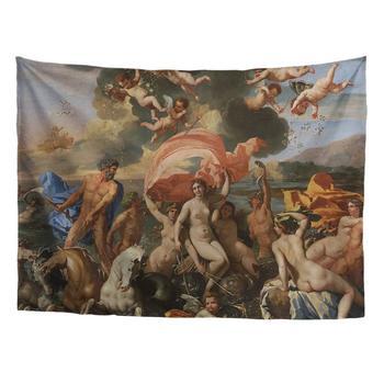 ฤดูใบไม้ผลิ Warner เทพนิยายกรีกคลาสสิก Art Tapestry Series Nicolas Poussin