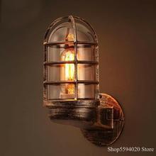 Lámpara de pared industrial retro Para Loft, lámpara de pared para esquina, barra americana, lámpara de pared para pasillo, lámpara de pared de hierro, candelabro