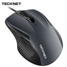 TeckNet Pro S2 Mouse Wired USB for Computer PC 2000DPI 1000DPI Ergonomic Shape 6 Buttons Mice Asus Xiaomi