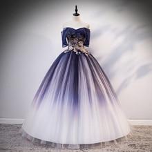 Настоящее темно-синее винтажное бальное платье с вышивкой рококо, длинное платье, винтажное средневековое платье, платье Ренессанс Принцесса Виктория