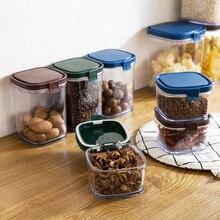 Прозрачный герметичный пластиковый контейнер для еды, зерна, резервуар для хранения холодильника-наложенный контейнер для хранения зерен