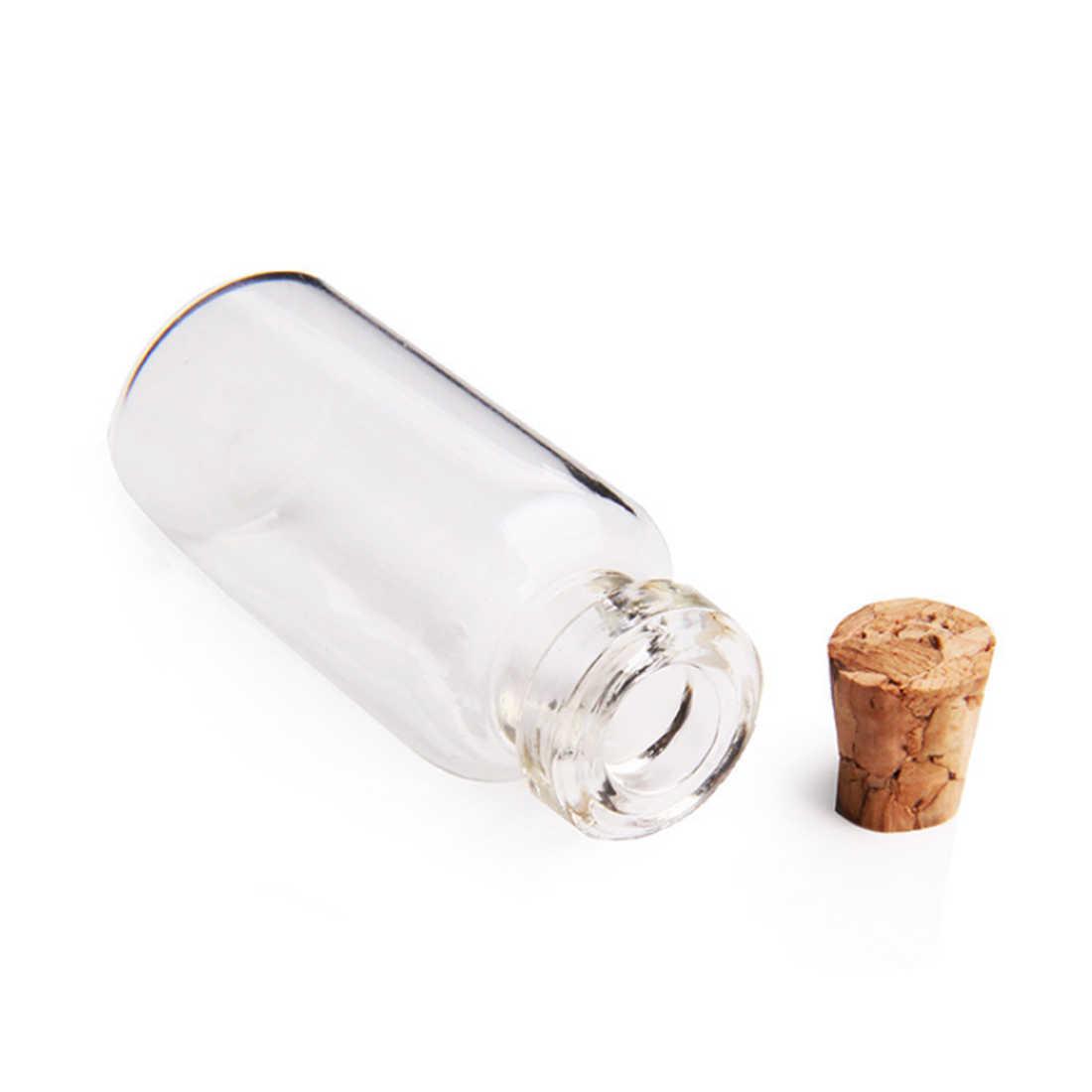 50 Uds 18X40mm 5 mini vaso de ML botellas frascos de muestra vacíos con tapones de corcho para decoración Diy manualidades hogar transparente