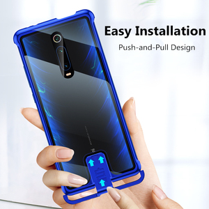 Image 3 - OMEVE for Xiaomi Mi 9T Case Frameless Metal Bumper and Tempered Glass Back Cover for Xiaomi 9T Pro/ Redmi K20 K20 Pro Phone Case