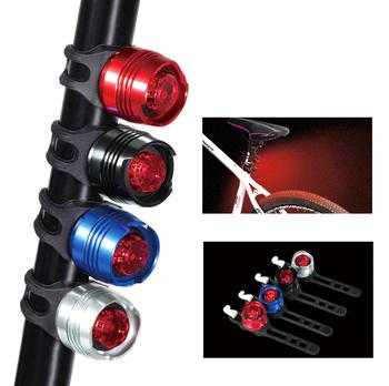 Światła rowerowe wodoodporny LED rowerowy Taillight rowerowa tylna lampa rowerowa ostrzeżenie o bezpieczeństwie światła rowerowe akcesoria rowerowe tanie i dobre opinie Bicycle Lights 138 FRAME Baterii