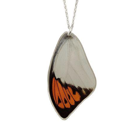 Hebomoia glaucippe реальные крылья бабочки смола подвеска 925