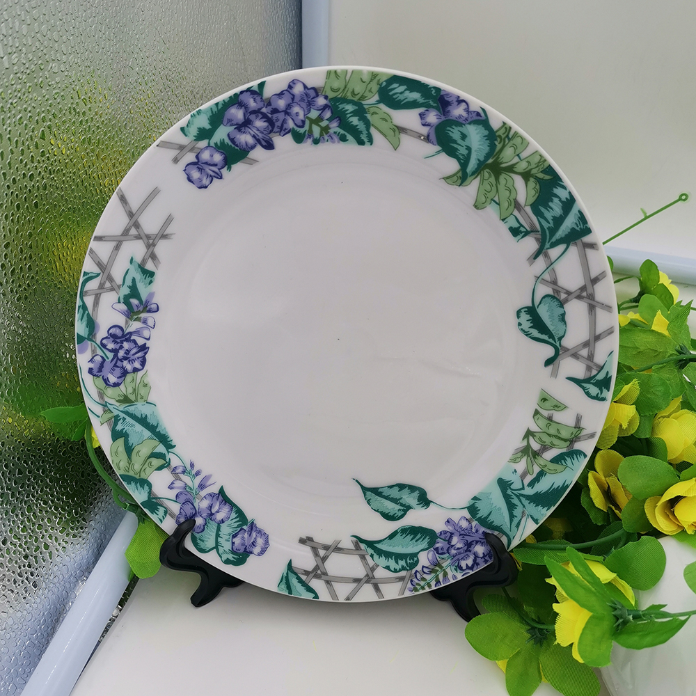 HOME DECOR PLATE Blank Sublimation Plate With Plastic Stand Colourful Border 4 PC/ Lot  Ceramic Blank Plate