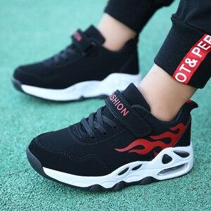 Image 4 - 2019 moda nefes spor ayakkabılar erkek okul ayakkabısı bahar büyük çocuk ayakkabı çocuk koşu ayakkabıları erkekler için boyutu 29 39 B55