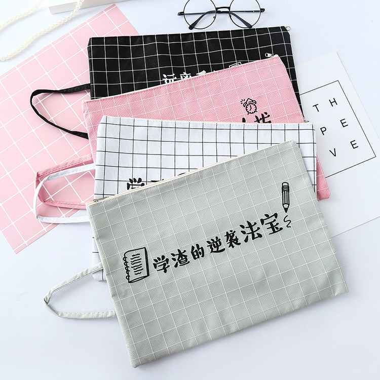 Chinese A4 File Folder Document Bag Business Paper Holder For Student Stationery