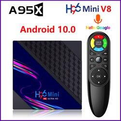 Android TV Box H96 MINI V8 Android 10 Smart TV Box RK3228A Rockship 2GB 16GB 2.4G Wifi Google Play H96Mini Media Player H96 MAX