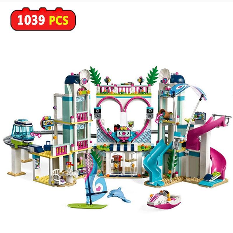 Girls Heartlake City Amusement Park Castle Building Blocks Compatible Legoinglys Friends Bricks Educational Toys For Girls