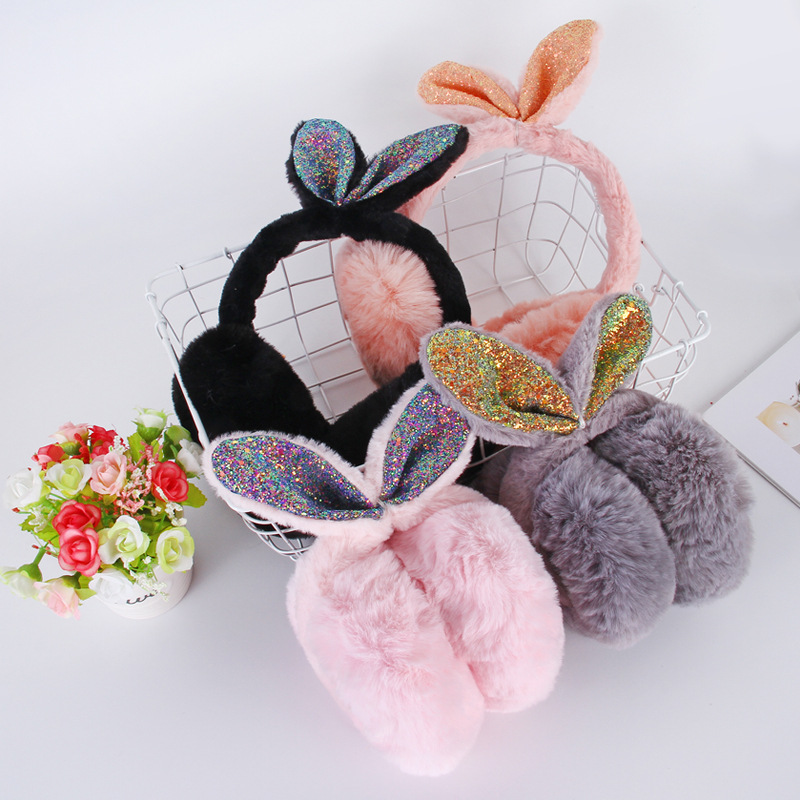 Fashion Winter Women's Earmuffs Cute Rabbit Hair Warm Earmuffs For Girls Women Winter Ear Warmer Velvet Outdoor -85