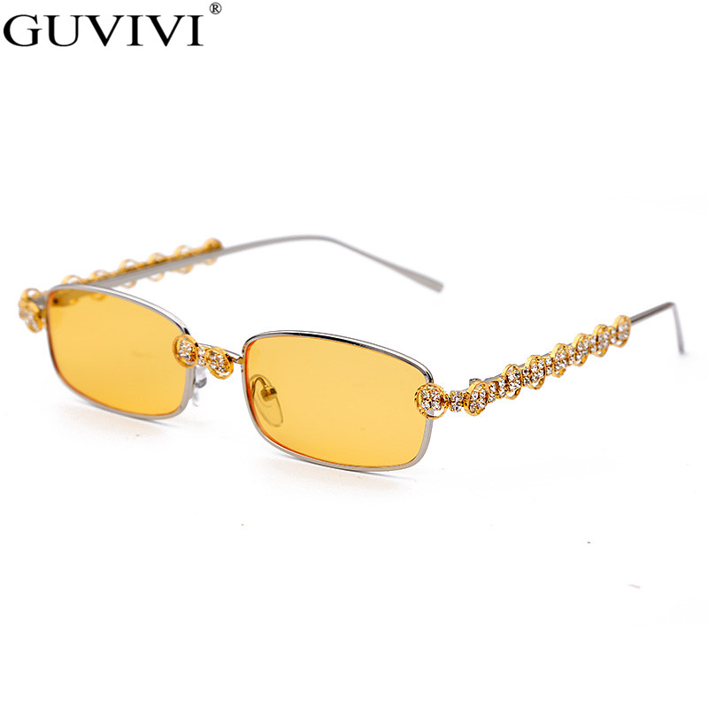 Closeout DealsRhinestone Sunglasses Crystal Steampunk Vintage Shades Diamond Rectangle Women Fashion