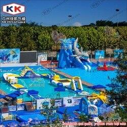 Aufblasbare Wasserpark Schwimm Insel, Aufblasbare Wasser Spielplatz Park