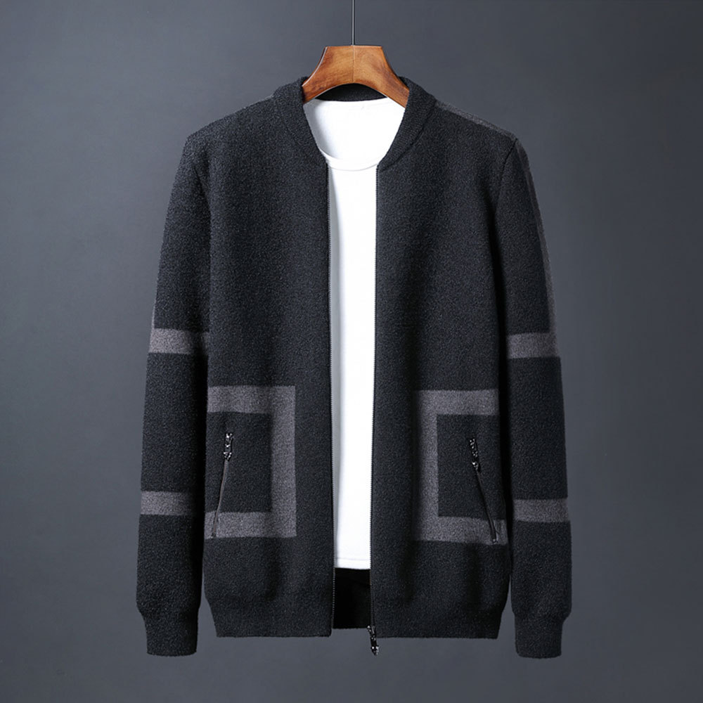 Thoshine Brand Spring Autumn Men Sweatercoats Patchwork Slim Fit Male Knitted Jackets Cardigan Outerwear Sweater Coat Knitwear