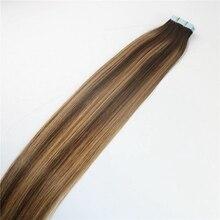 """Клейкие человеческие волосы sobeauty на Клейкой Ленте для наращивания 1"""" 16"""" 1"""" 20"""" 2"""" 20 шт. Omber цвета прямые кожные волосы remy индийские волосы"""