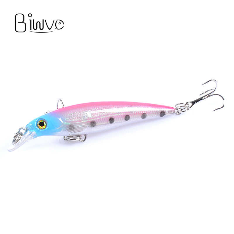 Biwvo 7.5cm 5g เหยื่อตกปลา Minnow เหยื่อประดิษฐ์สินค้าโลหะสำหรับตกปลาน้ำแข็ง Noeby Swimbait Wobler ขนาดเล็กปลา Perche