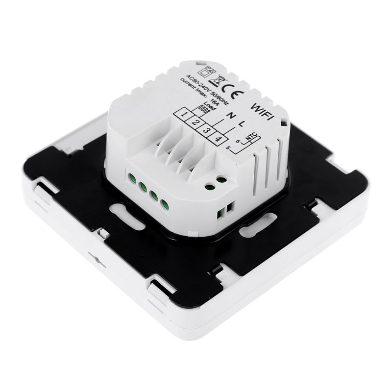 WiFi Smart Electric Heating Thermostat Room Temperature Controller 16A 90-240VAC For Alexa Echo Google Home IFTTT