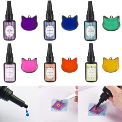 Colors 12 UV Hard Glue Transparent Liquid DIY Handmade UV Resin Jewelry Making Resin Liquid Dye Pigment Epoxy
