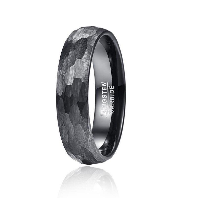 feminino multi-facetado martelado acabamento escovado anéis conforto ajuste presente