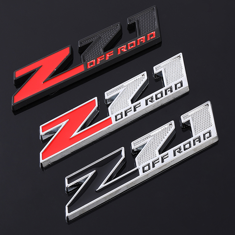 Aluminum Fender Trunk Emblem Badge Hood Car Pick up Red V6 Side Decal Sticker