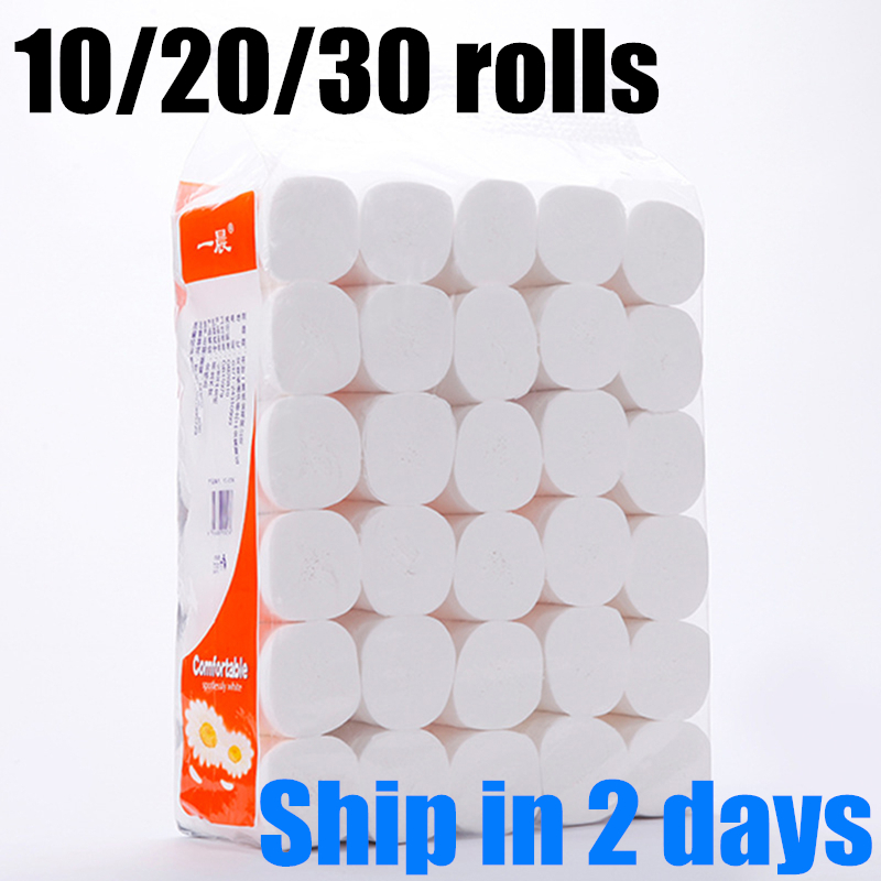 Hot Sale 12 Rolls Fast Shipping Roll Paper 4 Layers Bathroom Kitchen Roll Paper Primary Wood Pulp Toilet Paper Tissue Paper 2020