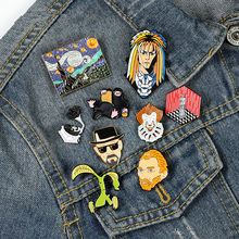 Humanities and Arts Enamel Lapel Pins Movie Music Painting Sculpture Brooches Badges Pins Gifts for Art Friends