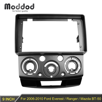 Car Radio Fascia for Ford Everest 2006+ Ranger 2006-2010 Mazda BT-50 2006-2011 Double Din Stereo Panel Dash Kit Bezel GPS Frame image