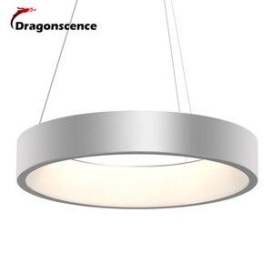 Image 2 - Okrągły aluminiowy nowoczesny wisiorek LED światło do salonu sypialnia jadalnia biuro lampa wisząca Lamparas De Techo Colgante Moderna