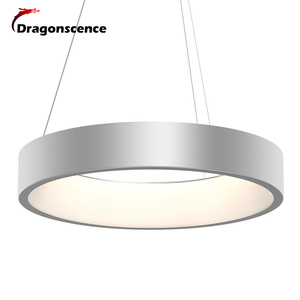 Image 2 - Round Aluminum Modern LED Pendant Light For Living Room Bedroom Dining Office Pendant Lamp Lamparas De Techo Colgante Moderna