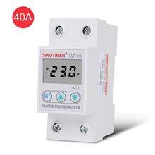 SINOTIMER SVP-915 Spannung Protector 230V 40A/63A Einstellbare Auto-recovery Unter/Über Relais Breaker Schutz Gerät mit LCD