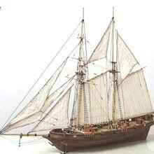 1 conjunto de montagem kits de construção navio modelo de madeira veleiro brinquedos modelo vela montado kit madeira diy artesanato