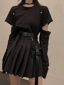 SNicemix Skirt Black-...