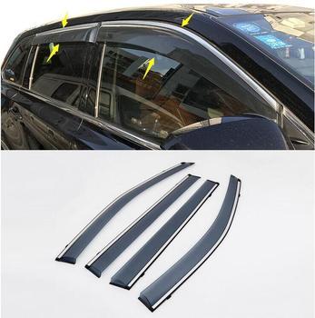 Side Window Rain Deflectors Guard Visor Weathershields Door Shade Shield Fit For Toyota Highlander Kluger 2014 2015 2016 2017
